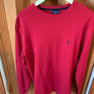 Men's Polo red thermal shirt new w/o tags